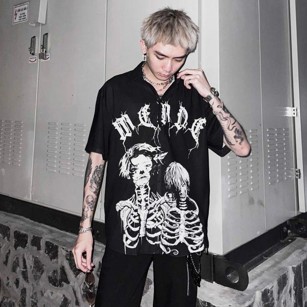 Black Skeleton Shirt
